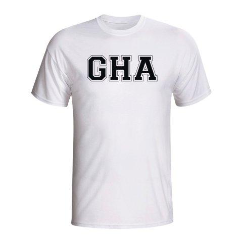 Ghana Country Iso T-shirt (white) - Kids
