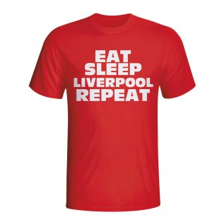 Eat Sleep Liverpool Repeat T-shirt (red) - Kids