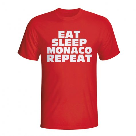 Eat Sleep Monaco Repeat T-shirt (red) - Kids