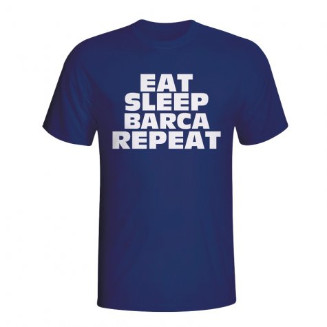 Eat Sleep Barcelona Repeat T-shirt (navy)