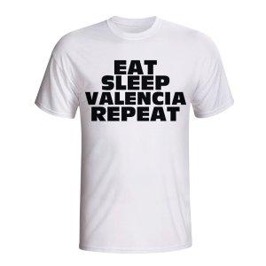 Eat Sleep Valencia Repeat T-shirt (white)