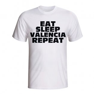 Eat Sleep Valencia Repeat T-shirt (white) - Kids