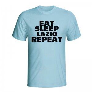 Eat Sleep Lazio Repeat T-shirt (sky Blue)