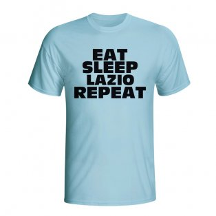 Eat Sleep Lazio Repeat T-shirt (sky Blue) - Kids