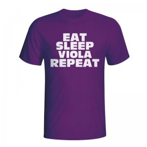 Eat Sleep Fiorentina Repeat T-shirt (purple) - Kids
