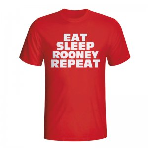 Eat Sleep Rooney Repeat T-shirt (red) - Kids