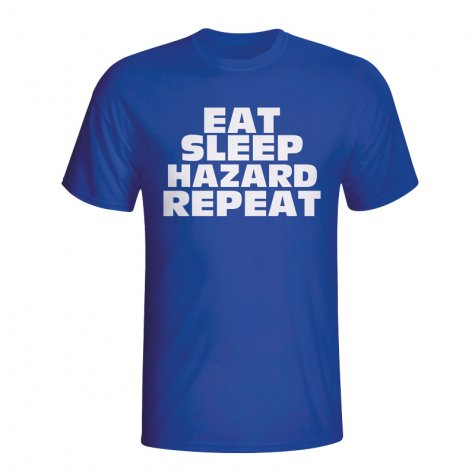 Eat Sleep Hazard Repeat T-shirt (blue) - Kids