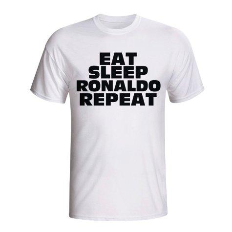 Eat Sleep Ronaldo Repeat T-shirt (white) - Kids