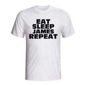 Eat Sleep James Repeat T-shirt (white)