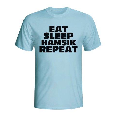 Eat Sleep Hamsik Repeat T-shirt (sky Blue)