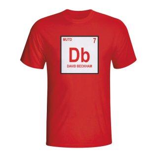 David Beckham Man Utd Periodic Table T-shirt (red) - Kids