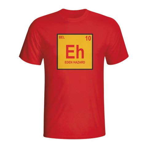Eden Hazard Belgium Periodic Table T-shirt (red)