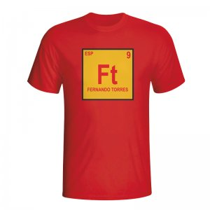 Fernando Torres Spain Periodic Table T-shirt (red)
