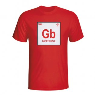 Gareth Bale Wales Periodic Table T-shirt (red)