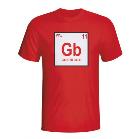 Gareth Bale Wales Periodic Table T-shirt (red) - Kids