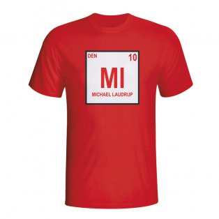 Michael Laudrup Denmark Periodic Table T-shirt (red)