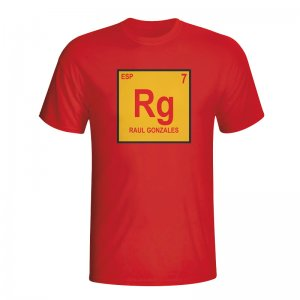 Raul Spain Periodic Table T-shirt (red) - Kids