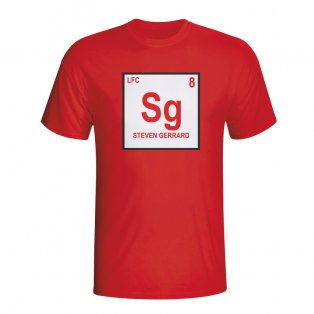 Steven Gerrard Liverpool Periodic Table T-shirt (red) - Kids