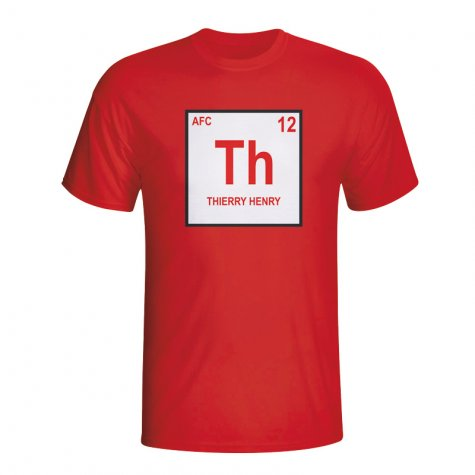 Thierry Henry Arsenal Periodic Table T-shirt (red)