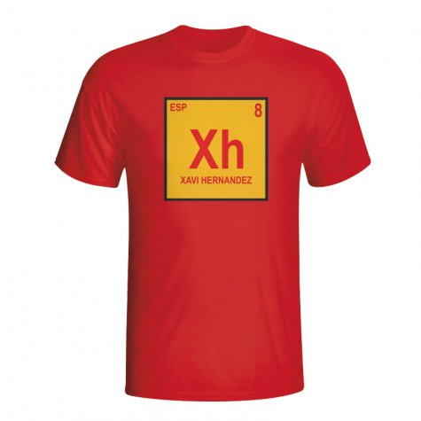 Xavi Spain Periodic Table T-shirt (red) - Kids