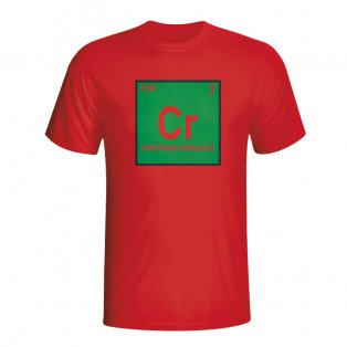 Cristiano Ronaldo Portugal Periodic Table T-shirt (red) - Kids
