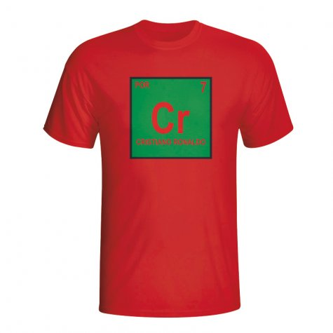 Cristiano Ronaldo Portugal Periodic Table T-shirt (red)