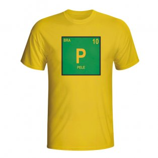Pele Brazil Periodic Table T-shirt (yellow) - Kids