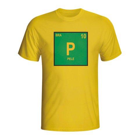 Pele Brazil Periodic Table T-shirt (yellow)