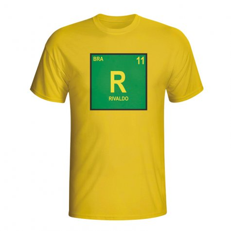 Rivaldo Brazil Periodic Table T-shirt (yellow) - Kids