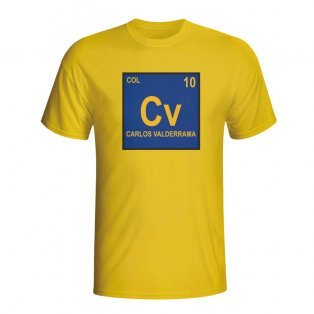 Carlos Valderrama Colombia Periodic Table T-shirt (yellow) - Kids