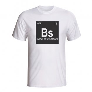 Bastian Schweinsteiger Germany Periodic Table T-shirt (white) - Kids
