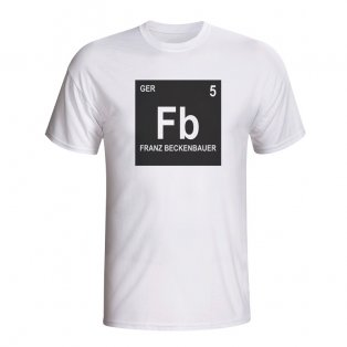 Franz Beckenbauer Germany Periodic Table T-shirt (white) - Kids