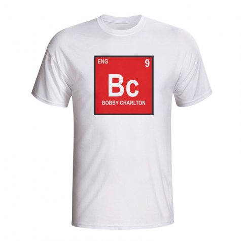 Bobby Charlton Germany Periodic Table T-shirt (white)