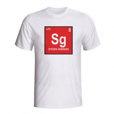 Steven Gerrard Liverpool Periodic Table T-shirt (white)