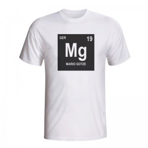 Mario Gotze Germany Periodic Table T-shirt (white)
