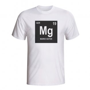 Mario Gotze Germany Periodic Table T-shirt (white) - Kids