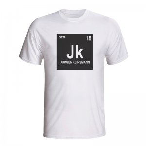 Jurgen Klinsmann Germany Periodic Table T-shirt (white) - Kids