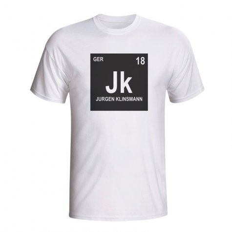 Jurgen Klinsmann Germany Periodic Table T-shirt (white)