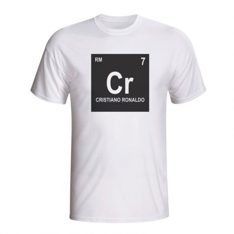 Cristiano Ronaldo Real Madrid Periodic Table T-shirt (white)