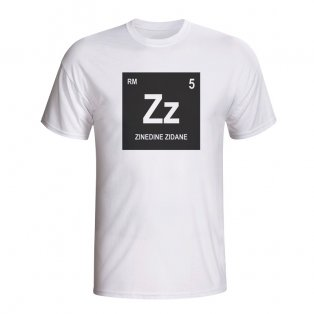 Zinedine Zidane Real Madrid Periodic Table T-shirt (white)