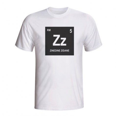 Zinedine Zidane Real Madrid Periodic Table T-shirt (white) - Kids