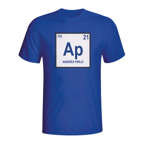 Andrea Pirlo Italy Periodic Table T-shirt (blue)