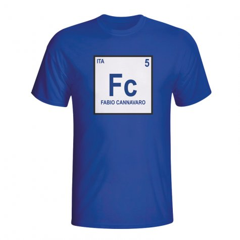 Fabio Cannavaro Italy Periodic Table T-shirt (blue)