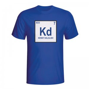Kenny Dalglish Scotland Periodic Table T-shirt (blue)