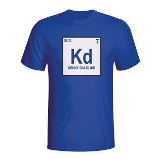 Kenny Dalglish Scotland Periodic Table T-shirt (blue)
