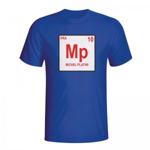 Michel Platini France Periodic Table T-shirt (blue)