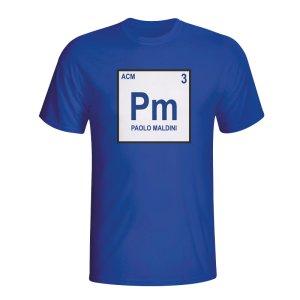 Paolo Maldini Italy Periodic Table T-shirt (blue) - Kids