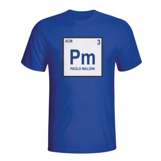 Paolo Maldini Italy Periodic Table T-shirt (blue) - Kids