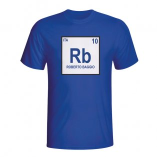 Roberto Baggio Italy Periodic Table T-shirt (blue)