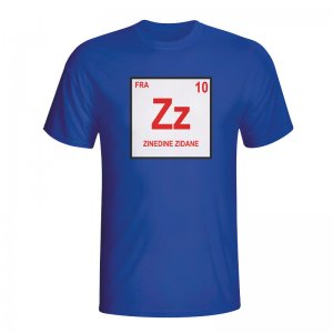 Zinedine Zidane France Periodic Table T-shirt (blue) - Kids
